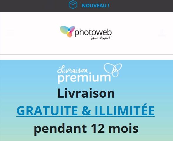 Livraison gratuite illimitée chez Photoweb